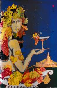 1997 Biltmore International Wine Festival program cover and auction painting (Credit: Jesus Fuertes)