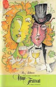 1998 Biltmore International Wine Festival program cover and auction painting (Credit: Jesus Fuertes)