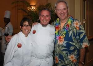 Chefs Hedy Goldsmith and Michael Schwartz with Festival Director Lyn Farmer