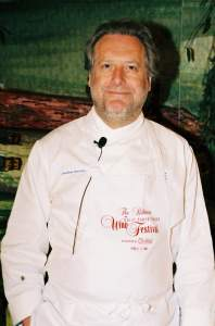 Chef Jonathan Waxman cooked two meals at the 2003 Biltmore Great South Florida Wine Festival