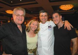 Mike drop! Chef Michael Chiarello with Michael Bittel, wife Linda and son (and United Way volunteer) Matt at the 2006 Interactive Dinner