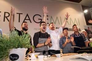 VeritageMiami's Fab Five - Chefs José Mendín, Giorgio Rapicavoli, Alberto Cabrera, Cesar Zapata and Todd Erickson