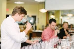 Young Leaders Rush Norton and Ian Beglau, at the time manager of Toro Toro at InterContinental Miami', together with Jen Schmidt, then head sommelier at Zuma, were among the dozen sommelier-judges at the Seventh Annual Best in Glass Wine Challenge